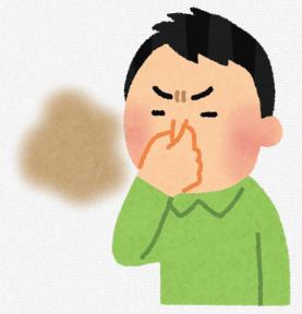 臭いを嗅ぐ人
