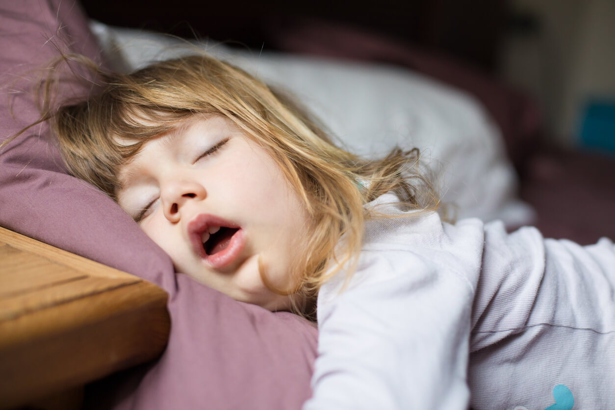 寝ている時に口が開いて呼吸している